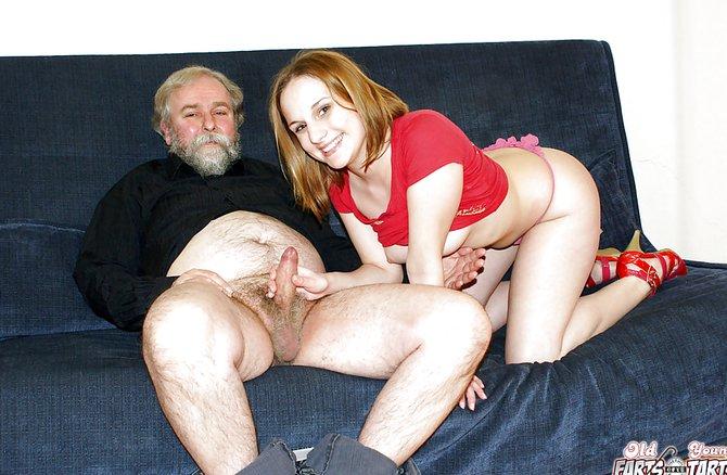 Порно дед старик внучка